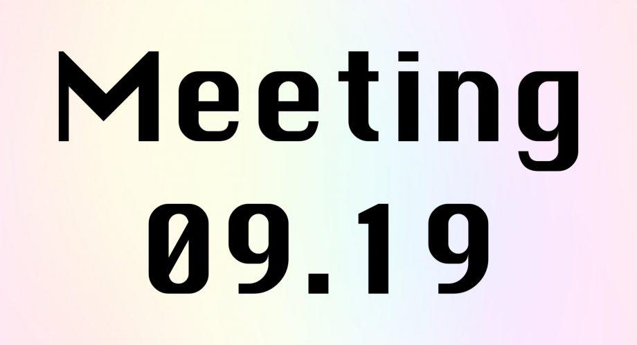 Meeting 09.19Un incontro tra danzatoriideato da Maria Vittoria Feltre, Sara Sguotti, Nicola Simone Cisternino